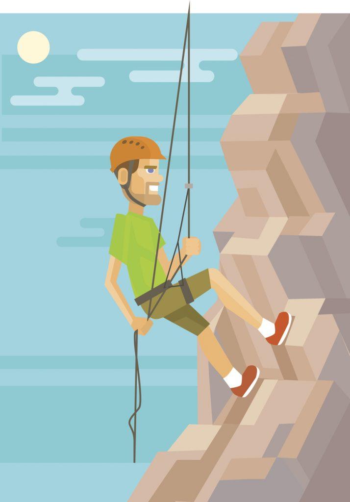 Climber. Vector flat illustration