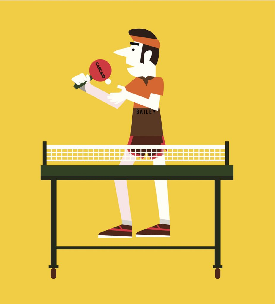 Sport and retro concept. flat character. vector illustration